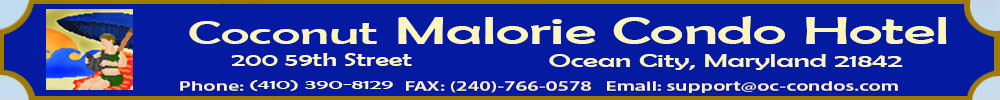 Coconut Malorie Condominium offered for Senior Week Beach Rentals, group rentals and  Family rentals.